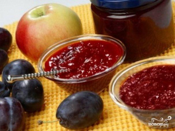 Варенье из яблок и слив