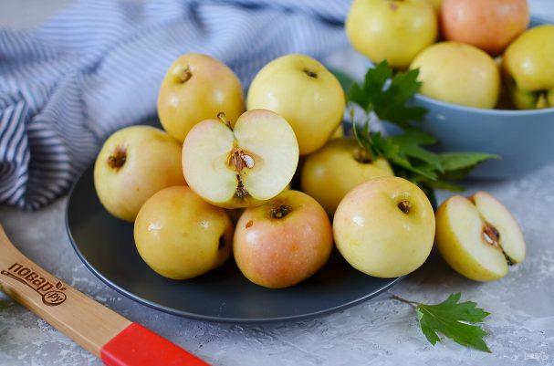 Яблоки, моченые на зиму