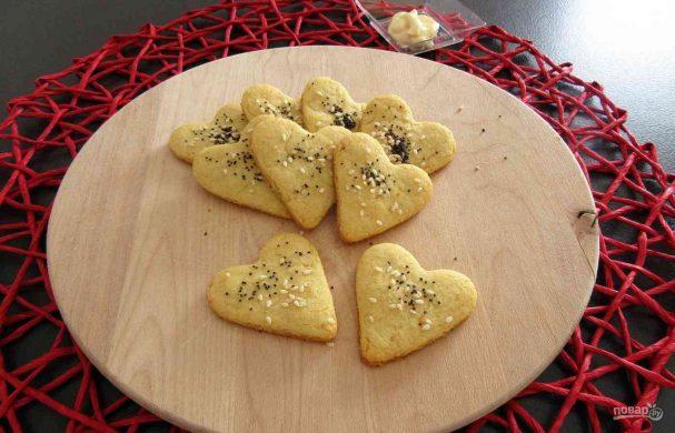 Соленое печенье с майонезом