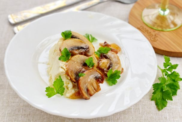 Закуска - буюрди с шампиньонами