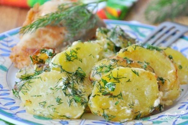 Картофель со сливками