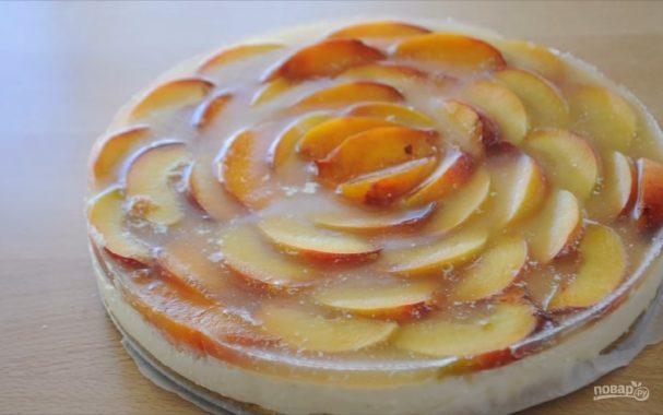 "Торт без выпечки ""Персиковая роза"""