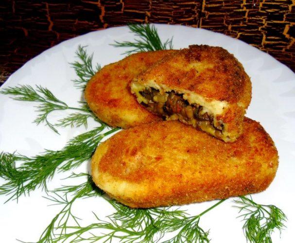 Постные картофельные зразы