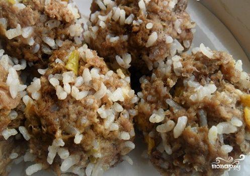 Тефтели из баранины с рисом