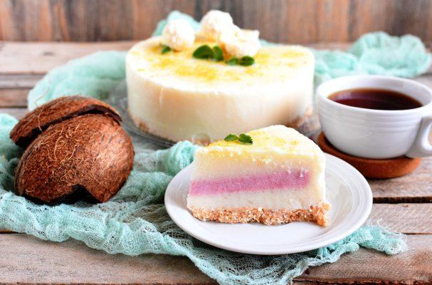 Кокосовый десерт без выпечки