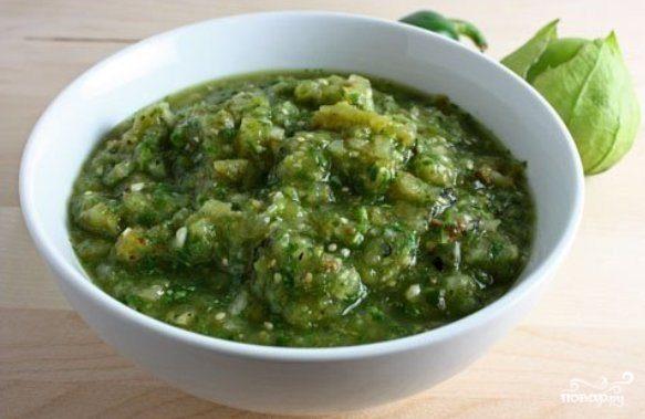 зеленая аджика из зеленых помидор рецепт на зиму