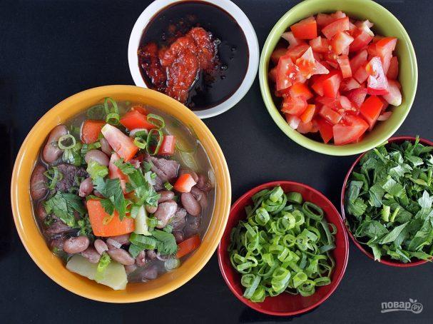 Суп с красной фасолью и мясом
