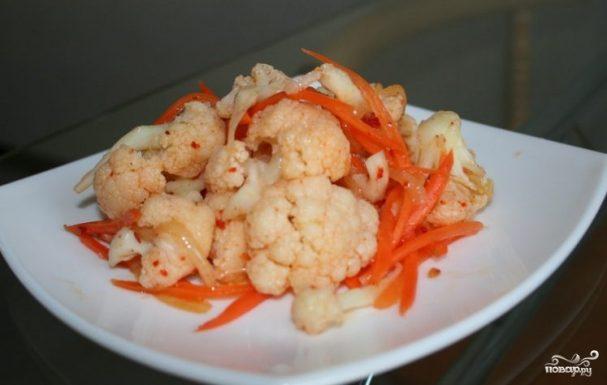 салат из цветной капусты по-корейски рецепт
