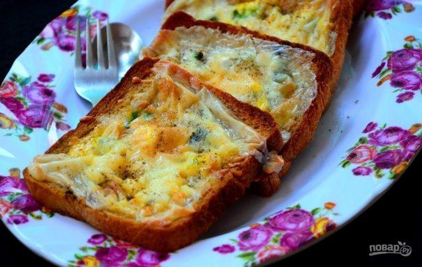 Тосты с яйцом в духовке