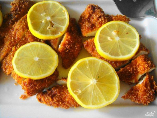 Кусочки куриного филе в кляре