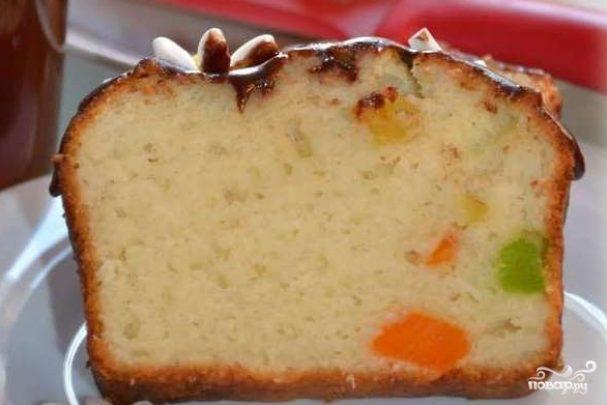 Творожный кекс с цукатами