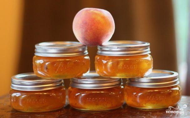 Персиковое варенье на скорую руку