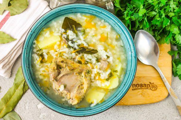 Рисовый суп с уткой