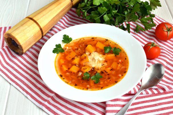 Суп с фасолью и тыквой