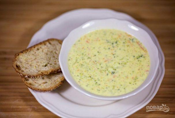 Чеддерский крем-суп с брокколи