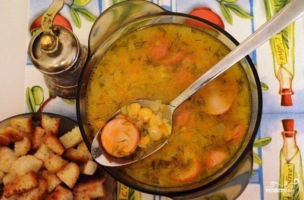 Гороховый суп с сардельками