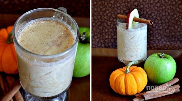 рецепт молочного коктейля с яблоком миксером