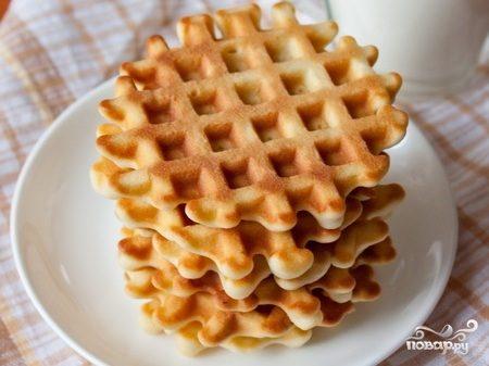 рецепт для электровафельницы печенье из сметаны