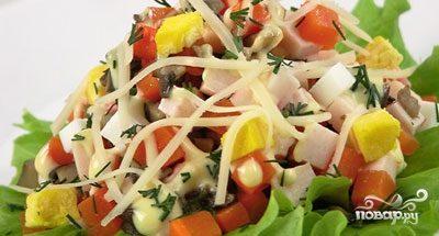 Салат с грибами вешенками