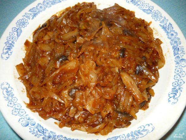 рецепт приготовления солянки из грибов и капусты