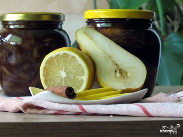 Варенье из груш с лимоном