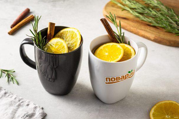 Чай с розмарином и апельсином