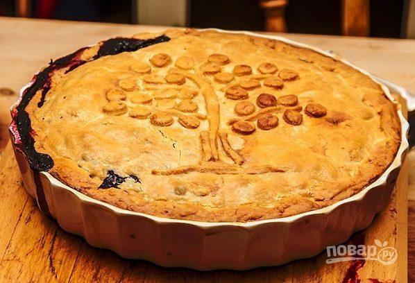 Пирог с черникой из бездрожжевого теста