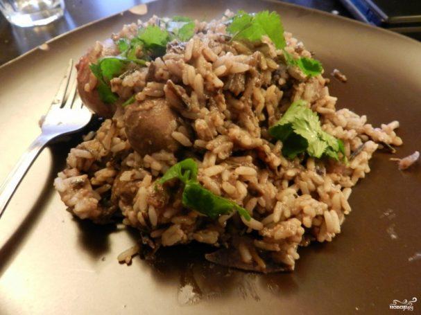 Рис с печенью в мультиварке