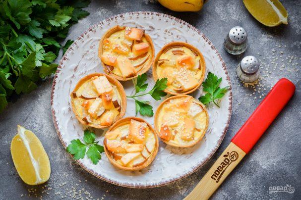 Тарталетки с грушей и сыром