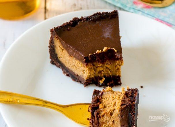 Кофейный чизкейк с шоколадным ганашем