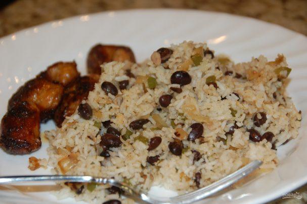 Гарнир из риса и фасоли