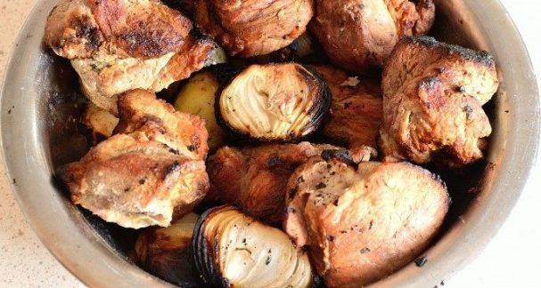 Шашлык из свинины на уксусе