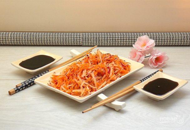 Салат с редисом по-корейски