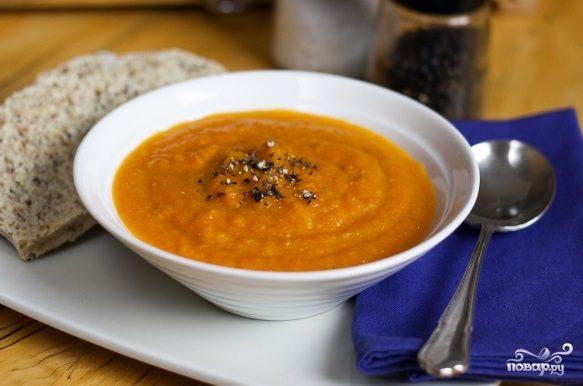 Морковно-имбирный суп