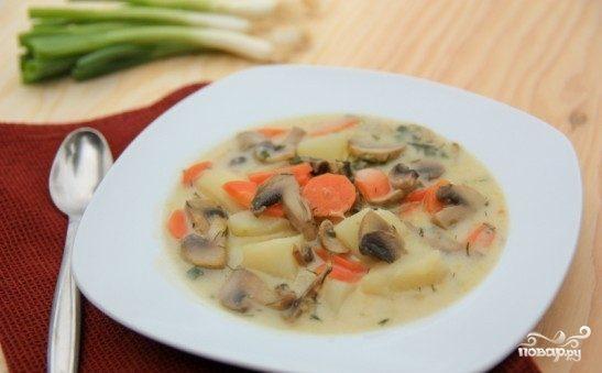 Рецепт простого грибного супа