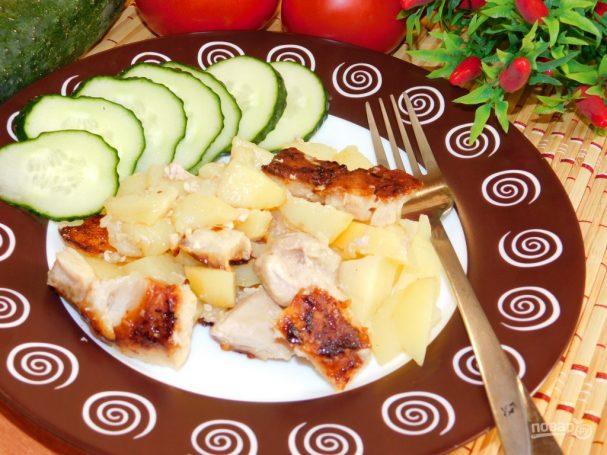 Картофель с мясом по-гречески