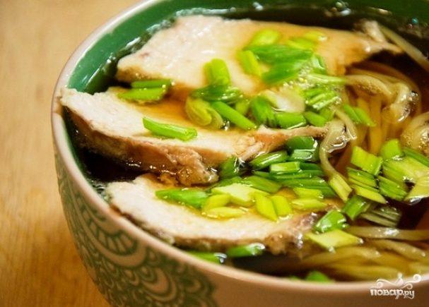 Суп с мясом и лапшой