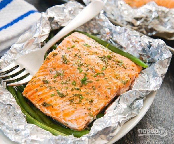 рецепт рыбы семга запеченной в духовке