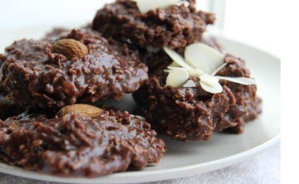Овсяное шоколадное печенье без выпечки