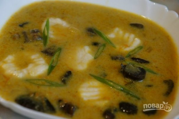 Грибной суп из подберезовиков