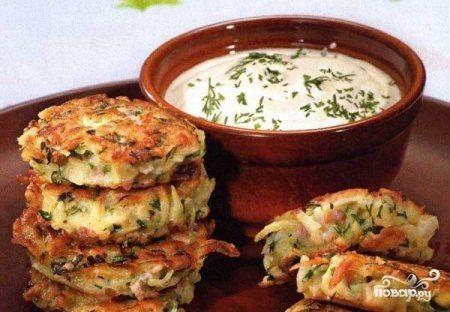Драники с зеленью и сыром