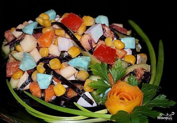 рецепты салат кубик рубика