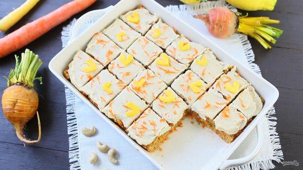 Морковный веганский торт