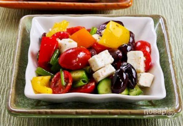 Салат с болгарским перцем и сыром