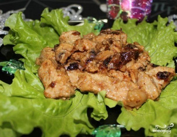 Жареные грибы со свининой