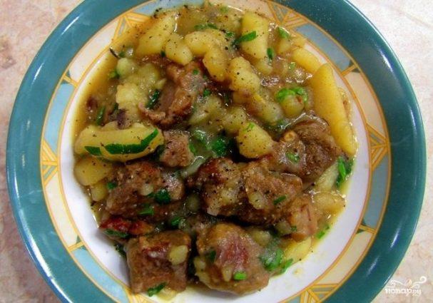 Соус из баранины с картошкой