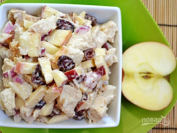 Салат с грудинкой