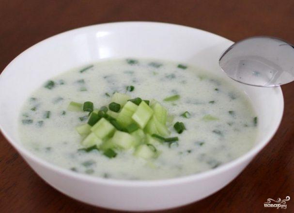 Огуречный суп для похудения