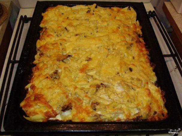 Картофель с опятами в духовке