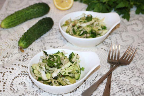 Хрустящий зелёный салат